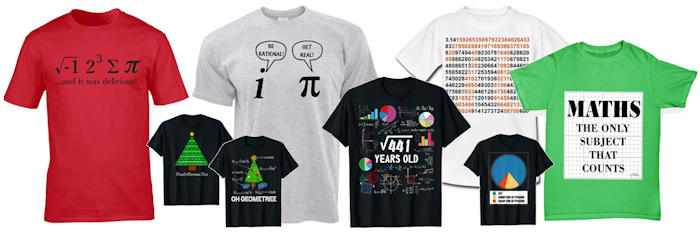 Maths T-shirts on Amazon