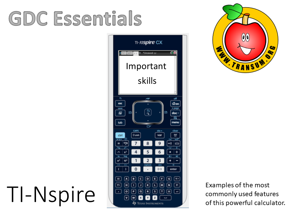 TI-Nspire CX Essential Skills