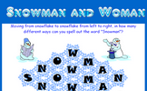 Snowman and Woman