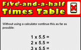 5.5 Times Table